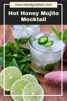 Enjoy all of the crisp, refreshing flavors of a mojito, with a sweet and spicy kick of jalapeño simple syrup. You won't miss the booze! #mocktail #dryjanuary #drinkrecipe #nojito #hothoney