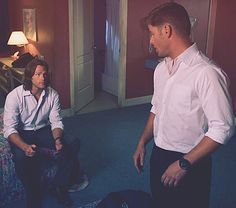 Sam & Dean's White Shirts. <3 #Supernatural #S8