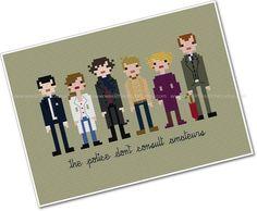 Pixel People - Sherlock - PDF Cross-stitch PATTERN - Instant Download on Etsy, $6.00