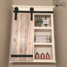 DIY Sliding Barn Door Bathroom Cabinet | Shanty 2 Chic | Bloglovin'