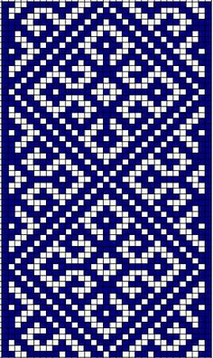 It Was A Work of Craft — moon-bird-of-thunder: Ancient Slavic Symbolism -. Tapestry Crochet Patterns, Bead Loom Patterns, Weaving Patterns, Mosaic Patterns, Embroidery Patterns, Knitting Charts, Knitting Stitches, Knitting Patterns, Crochet Chart