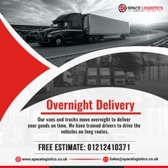 Space logistics in Birmingham provides Overnight Delivery through vans and trucks to move and deliver your regular or one-off, full and part loads on time in the UK and EU. Pallet Delivery, Overnight Delivery, Uk Europe, About Uk, Birmingham, Transportation, Vans, Trucks, Train