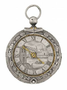 "Round ""bassine"" Decoration of Floral Rinceaux - Geneva, circa Movement signed: ""Jean Rousseau"" Old Pocket Watches, Renaissance Jewelry, Tungsten Wedding Bands, Antique Watches, Gold Plated Rings, Telling Time, Conflict Free Diamonds, Luxury Watches For Men, Fashion Rings"