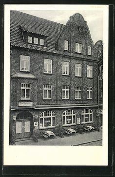 "Alte Ansichtskarte: AK Buxtehude, Hotel ""Mackenthun"", Bes. Carl u. Rena Heydel"