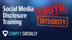 http://complysocially.com/online-social-media-policy-training/social-media-disclosure/ Learn which types of social networking profiles require disclosures, and which ones don't. Learn the US Federal Trade Commission Dotcom Disclosure Guidelines in this self-paced, online course that you can take right now.