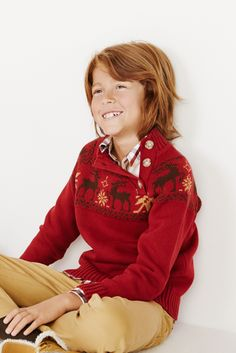 Jumper with christmas motif by Trasluz Christmas Fashion, Winter Christmas, Cloths, Jumper, Kids Outfits, Boys, Sweaters, Fashion Branding, Girl Clothing