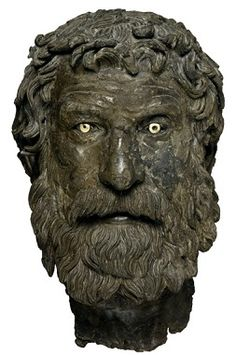 240           A Philosopher, possibly Bion, from the Antikythera shipwreck, National Archaeological Museum of Athens,  X 13400  (Photo: Unknown)