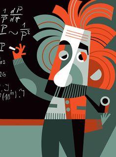 dibujo de Pablo Lobato- Einstein
