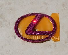 Crystal Pink Bling LEXUS Emblem bedazzled with Swarovski by IcyCouture on Etsy https://www.etsy.com/listing/200395347/crystal-pink-bling-lexus-emblem