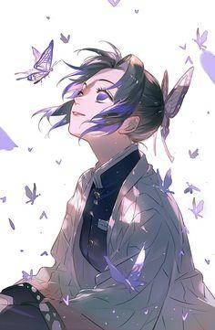 Shinobu Kochou (Demon Slayer: Kimetsu no Yaiba) Anime Love, Fan Art Anime, Anime Art Girl, Manga Art, Hot Anime, Anime Girls, Anime Angel, Anime Demon, Otaku Anime