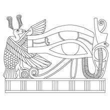 Maat Amp Isis Egyptian Goddess Amp Gods Coloring Page
