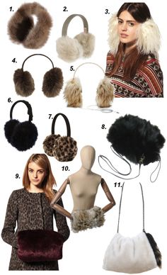 How to Rock: Fur Ear and Hand Muffs | OliviaPalermo.com...a little furry in a girls life just make you feel warm and pretty