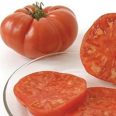 Brandywine Tomato, organically grown, said to be considered the world's best-flavored tomato. An Amish heirloom.