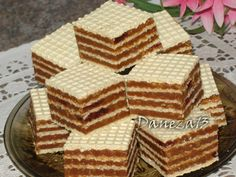 Romanian Desserts, Romanian Food, Chef Recipes, Cooking Recipes, Desserts With Biscuits, Waffle Cake, French Desserts, Homemade Cakes, Snacks
