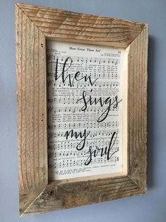 Hymnal Script Art How Great Thou Art Hymn Wall Hanging Sheet Music Crafts, Sheet Music Art, Hymn Art, Scripture Art, Christian Crafts, Christian Art, Book Crafts, Paper Crafts, Ideas Geniales