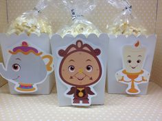 Beauty and The Beast Party Popcorn or Favor Boxes by PartyByDrake