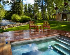 8 Ways to Beautifully Integrate an Outdoor Hot Tub...love that this one is set into the ground