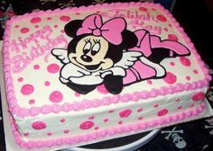 Minnie Mouse cake has become a cherished birthday wish for every child. The beautiful appearance and wonderful designs of that cake makes a fancy birthday Bolo Da Minnie Mouse, Minnie Mouse Birthday Theme, Birthday Girl Meme, Minnie Cake, Baby First Birthday, Birthday Quotes, Pastel Mickey, Mini Mouse Cake, Birthday Sheet Cakes