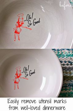 Dans Le Townhouse: Easily remove marks from your dishes and vintage Pyrex