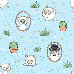 Pattern Bank, Pattern Design, Repeating Patterns, Textile Prints, Surface Pattern, Pet Birds, Llamas, Free Design, Print Patterns