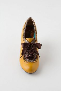 Gingham-Trimmed Oxford Heels. These are the shows Kari Jobe has and I want them. #anthropologie
