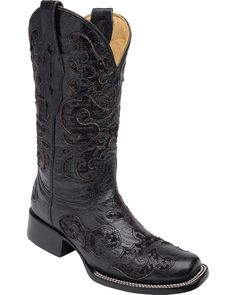 Corral Women's Sequin Inlay Cowgirl Boot Square Toe ^^ Startling review available here  : Cowgirl boots