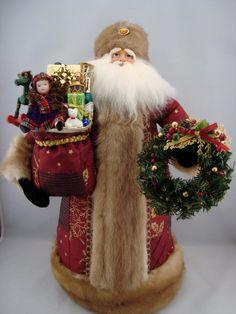 Royal Santa Santa Claus Doll Handmade by DianesHeirloomSantas