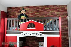 How to Make a Firehouse Bed #diy #howto #firehouse
