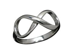 Sterling Silver 8mm Infinity Ring