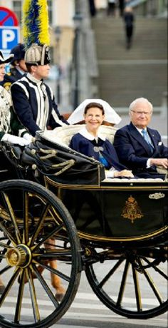 Sweden's Queen Silvia and King Carl Gustaf leaving the palace in Stockholm during the celebration of the National Day of Sweden, 06-06-2014