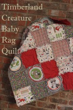 Baby Boy Woodland Creatures Rag Quilt Christmas Gift or Baby Shower Gift by #SewInLoveWithBaby