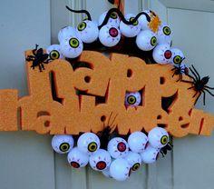 DIY Dollar Store - Gory Halloween Wreath
