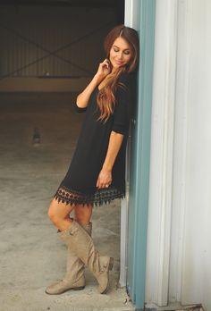 Dottie Couture Boutique - Black Solid Tunic, $32.00 (http://www.dottiecouture.com/black-solid-tunic/)