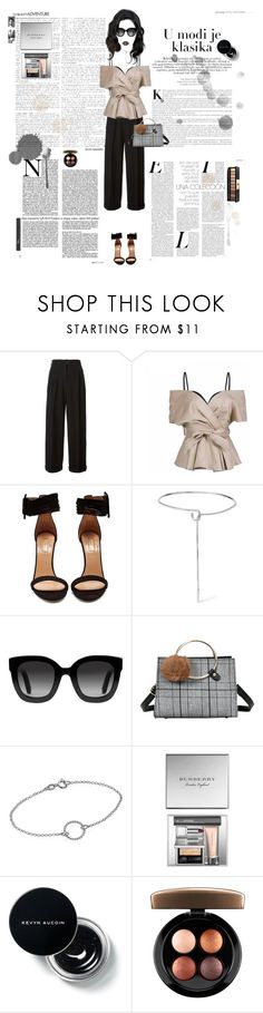 """""""#Loud"""" by hanna-na ❤ liked on Polyvore featuring Chanel, Aquazzura, Eddie Borgo, Gucci, Burberry, Christian Dior, MAC Cosmetics and Yves Saint Laurent"""