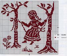 Cross stitch silhouette