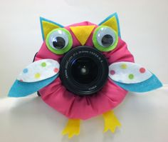 Camera Lens Buddy with Squeaker / Animals for your Camera Lens / Gift for Photographer, Photo Prop. $14.00, via Etsy.