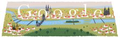 230th anniversary of Prague's existence as a single capital city [230 лет Праге как столице] /This doodle was shown: 12.02.2014 /Countries, in which doodle was shown: Czech Republic