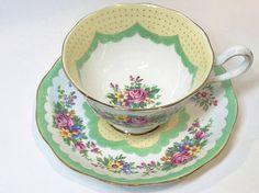 Royal Albert Tea Cup and Saucer Prudence Pattern Antique Tea