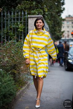 Milan Fashion Week FW 2016 Street Style: Giovanna Battaglia