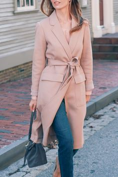 Fall doesn't get any more effortless than the #AnnTaylor Twill Duster. Partner in style @jessannkirby gets all wrapped up.