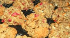 Ingredients  1¼ cup (5 ounces) finely diced fresh rhubarb, 3-4 medium stalks  1 tablespoon sugar  1 cup flour  ½ teaspoon baking soda  ¼ teaspoon all spice  ¾ cup rolled oats (not quick cook)  ⅓ cup (75g.) unsalted butter, room temperature  ⅓ cup brown