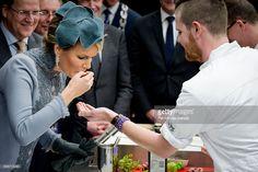 Queen Mathilde of Belgium visits the Sligro Foodgroup Netherlands on November 30, 2016 in Veghel, Netherlands.