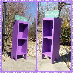 Small PURPLE Book Shelf Bookcase CD Movie Rack by UniquePrimtiques