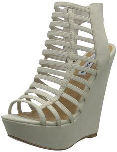 Steve Madden Women's Xpert Wedge Sandal,Bone,10 M US