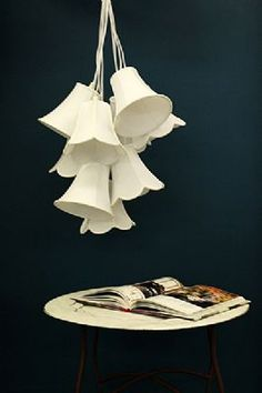 White Lampshade Cluster Light - Nine Lamp Shades WAS 195 NOW 100