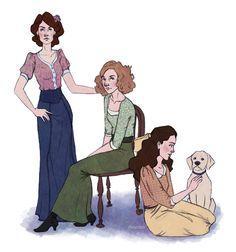 deviantART: More Like The Crawley Sisters, 1902 by ~RLKarnes