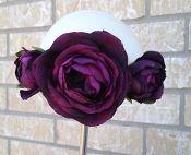 3 Flower Ranunculus Headband