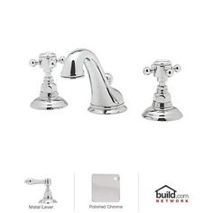 $363 View the Rohl A1408LMAPC-2 Polished Chrome Country Bath Widespread Bathroom Faucet with Pop-Up Drain and Metal Lever Handles at Build.com.