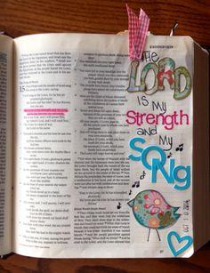 bible journaling, Journaling Bible, Art Bible, Margin bible journaling.