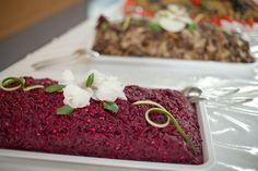 Rote Beete Salat mit Walnussstückchen. Korotkov Catering & Partyservice in Heilbronn.
